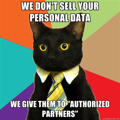 your data is secure, because we sell it to authorized partners only